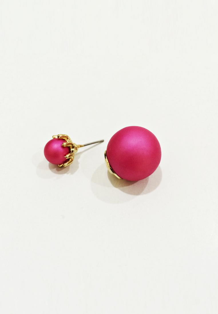 Pink Double Pearl Earrings (Free Shipping)