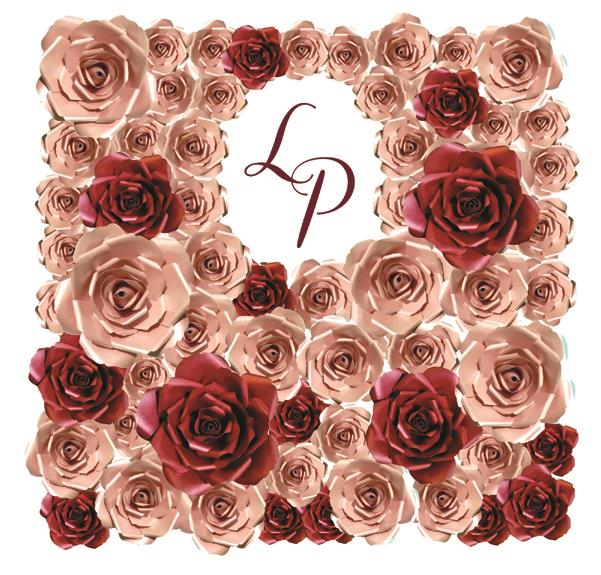 Pink & Red Giant Roses Wedding Backdrop Decor by MP Creative