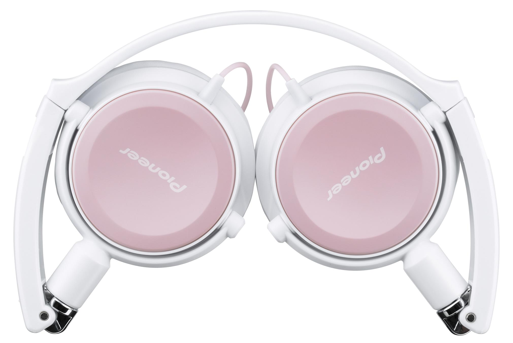 Pioneer Foldable Dynamic Headphones SE-MK511-HP - White/Pink