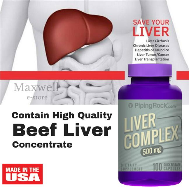 Piping Rock, Liver Complex 500 mg 100 Capsules