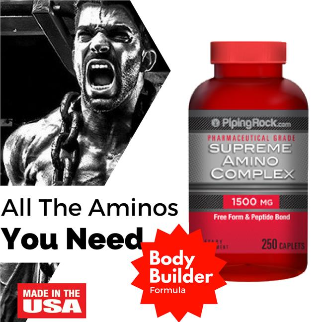 Piping Rock, Supreme Amino 1500 mg 250 Caplets (Protein)