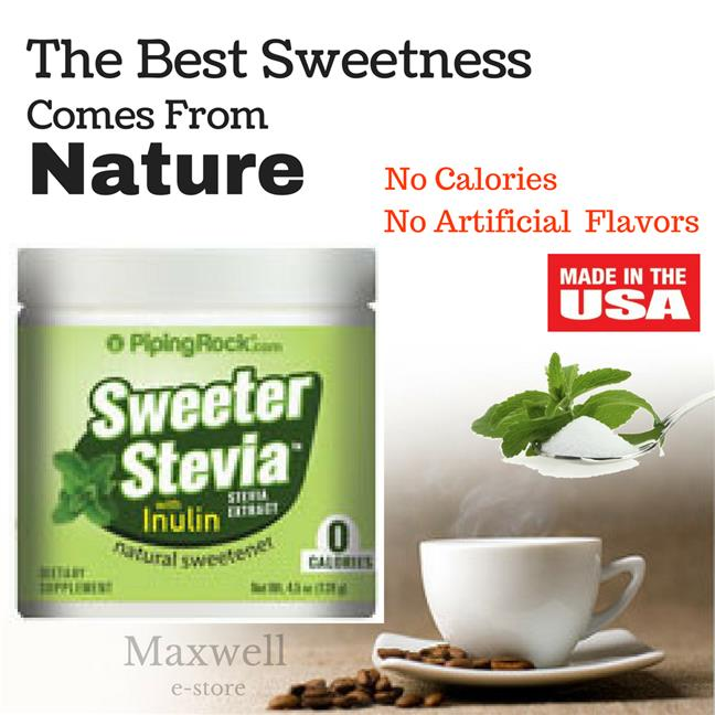 Piping Rock, Sweeter Stevia 4.5 oz (128 g) Jar (Sweetener, Sugarless)