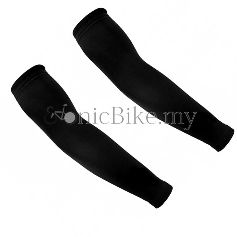 Plain Black Sun Block Arm Warmer - AWBLK