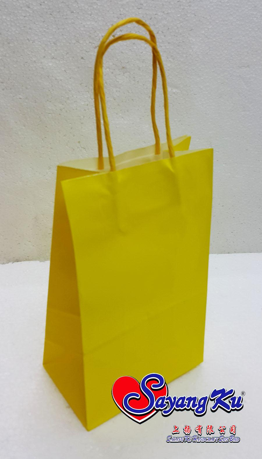 Paper bag yellow - Paper Bag Yellow 39