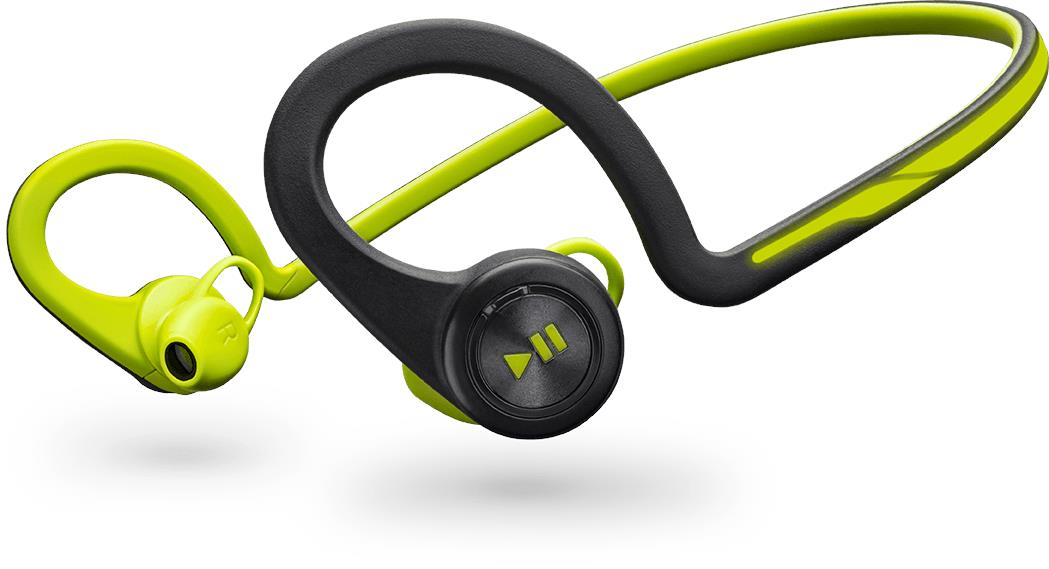 Plantronics BACKBEAT FIT WIRELESS HEADPHONES + MIC (Green)