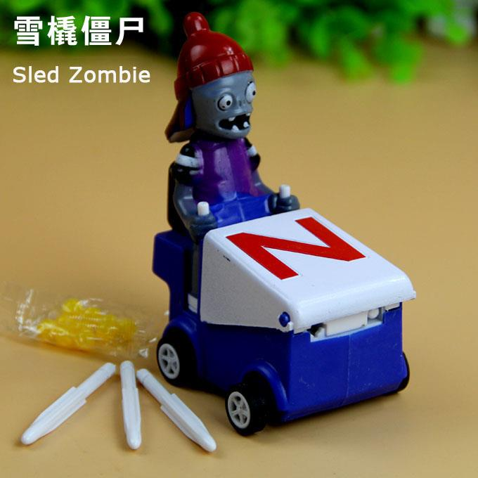 Plants Vs Zombies Snow Car Sled Zombie Toy Figure