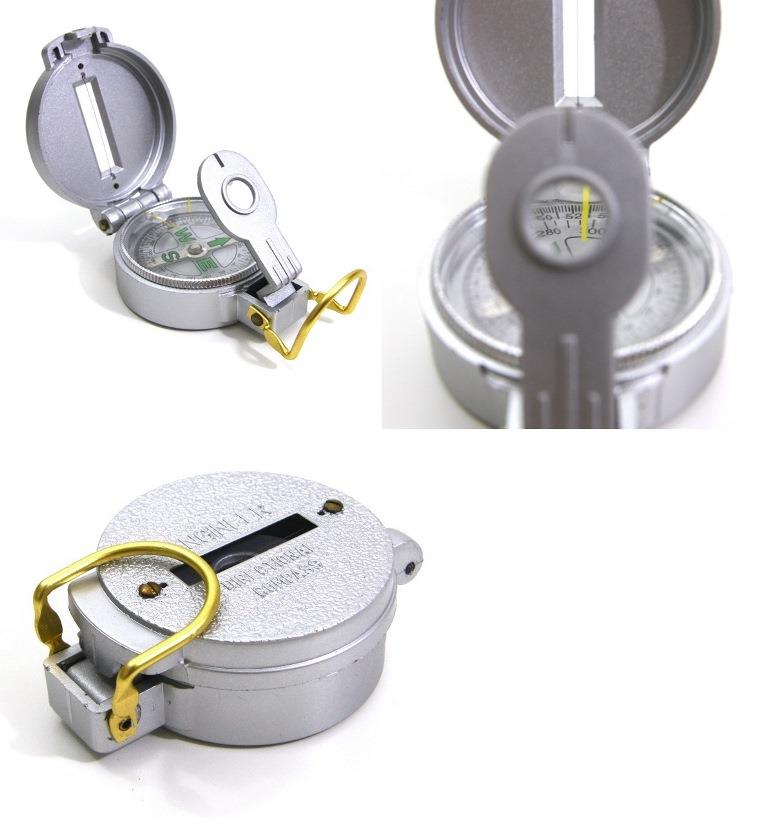 Plastic Case Liquid Filled Lensatic Compass 360° Degree