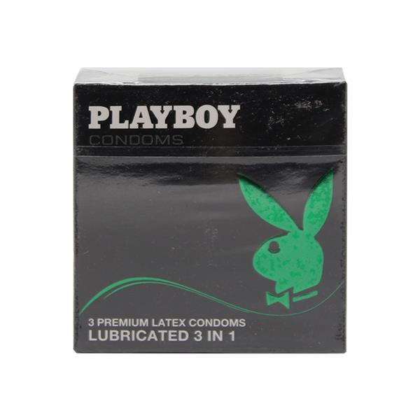 Playboy Condoms Lubricated 3in1  3 Pack