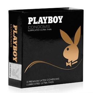 Playboy Condoms  Lubricated Ultra Thin 3 Pack