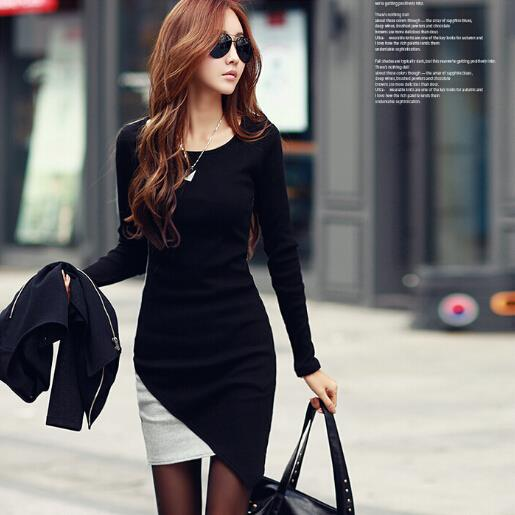 Plus Size M-2XL ~ Korea Fashion Long Sleeve Ladies Dress