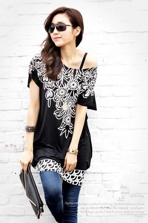 [PM-1306-5455] Korean Elegant Woman Casual Travel Top As Picture