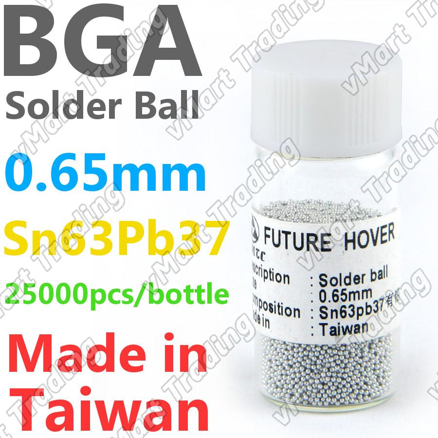 PMTC Sn63Pb37 BGA Solder Ball  25K 0.65mm