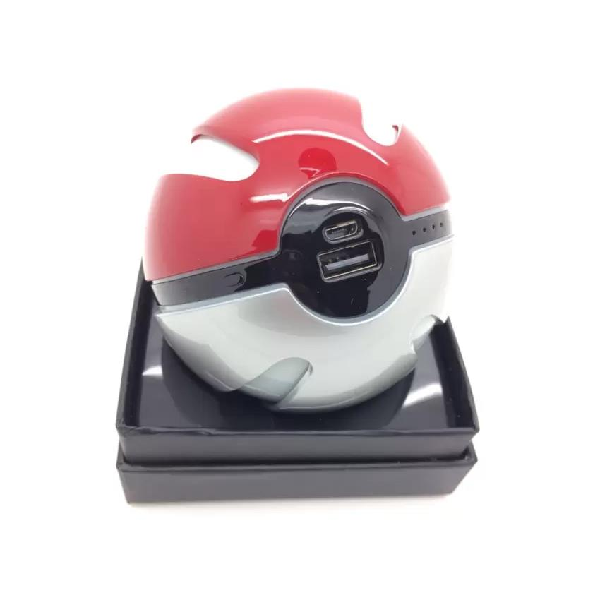 Pokemon Go Pokeball Shape 10000mAh Power Bank USB LED External Battery