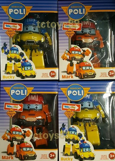 POLI ROBOCAR 2016 MODEL MARK & BUCKY. Deformation Robot Toy. New.!!!
