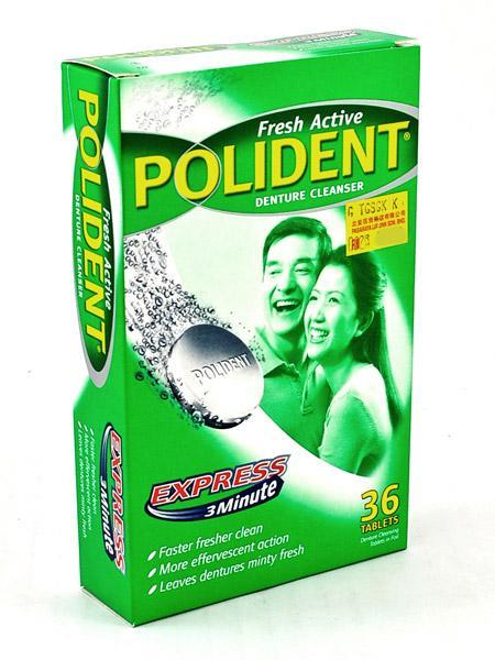 Polident Denture Cleanser Express 3 minute - 36 tablets