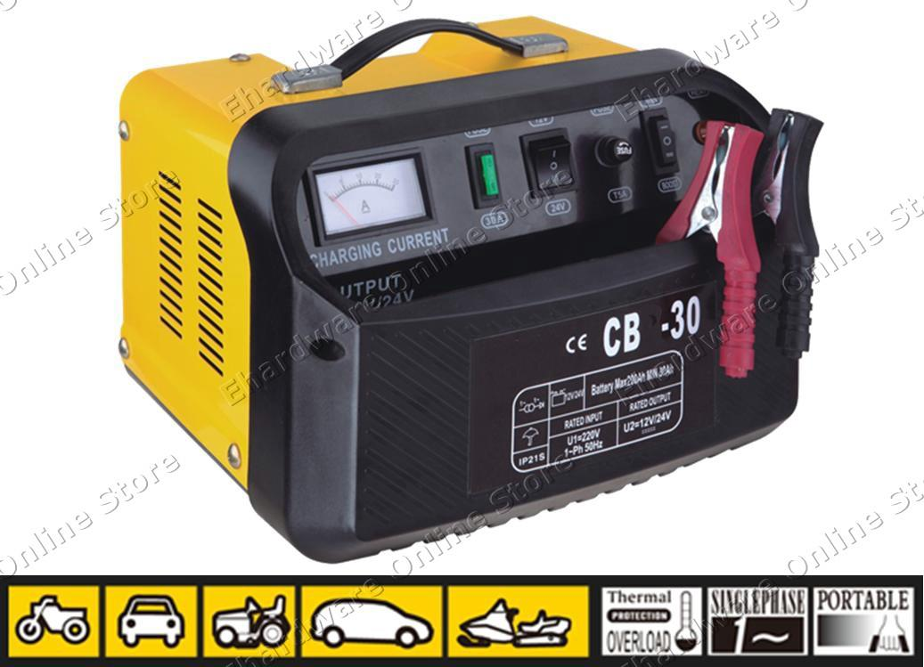 Are there portable automotive battery chargers available?
