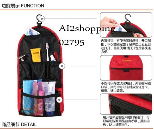 New portable multi-function trip Pouch Bag02795-Red