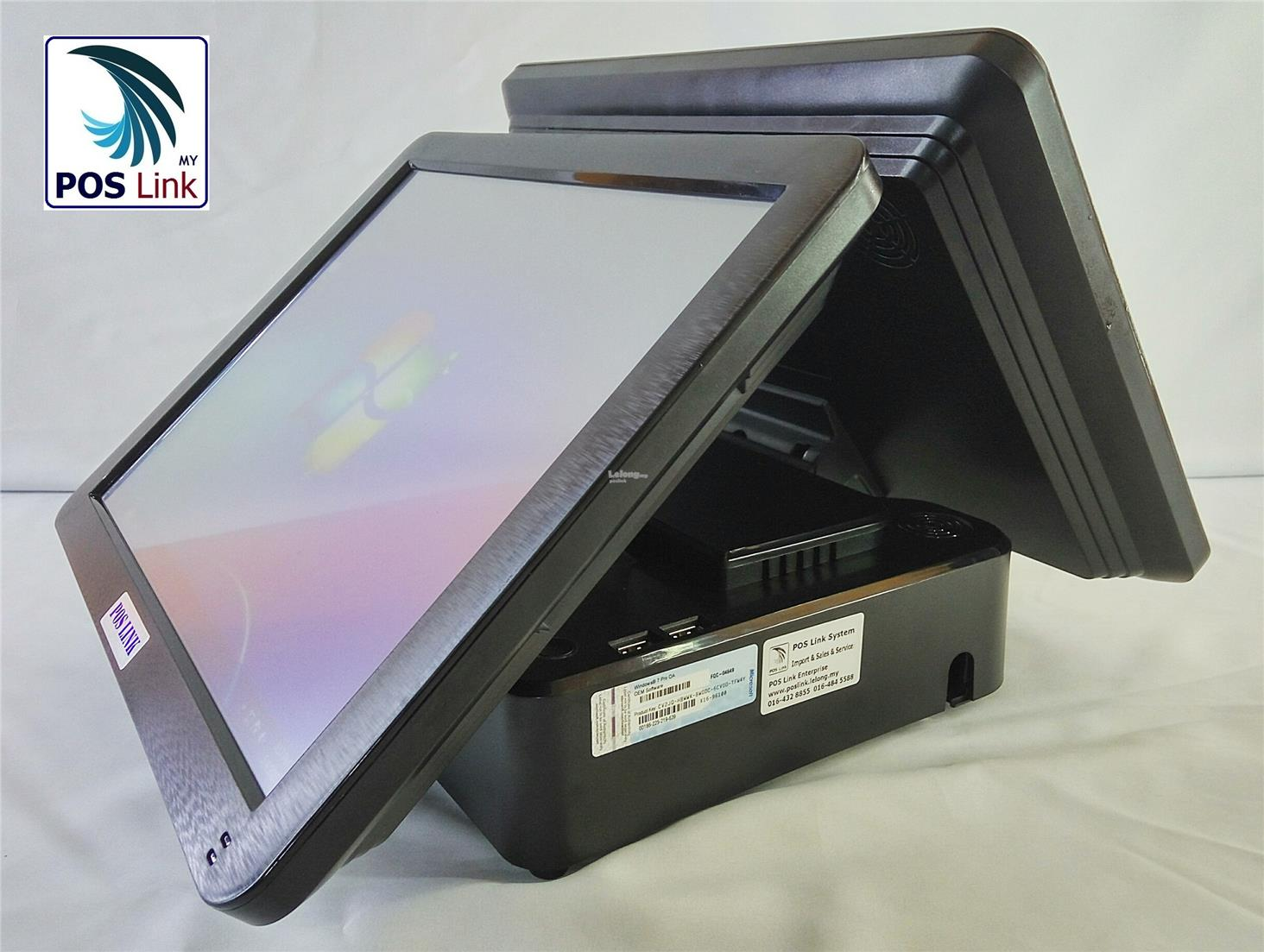 "POS System-TP155X All in one Touch POS PC, 15"" Customer Display"