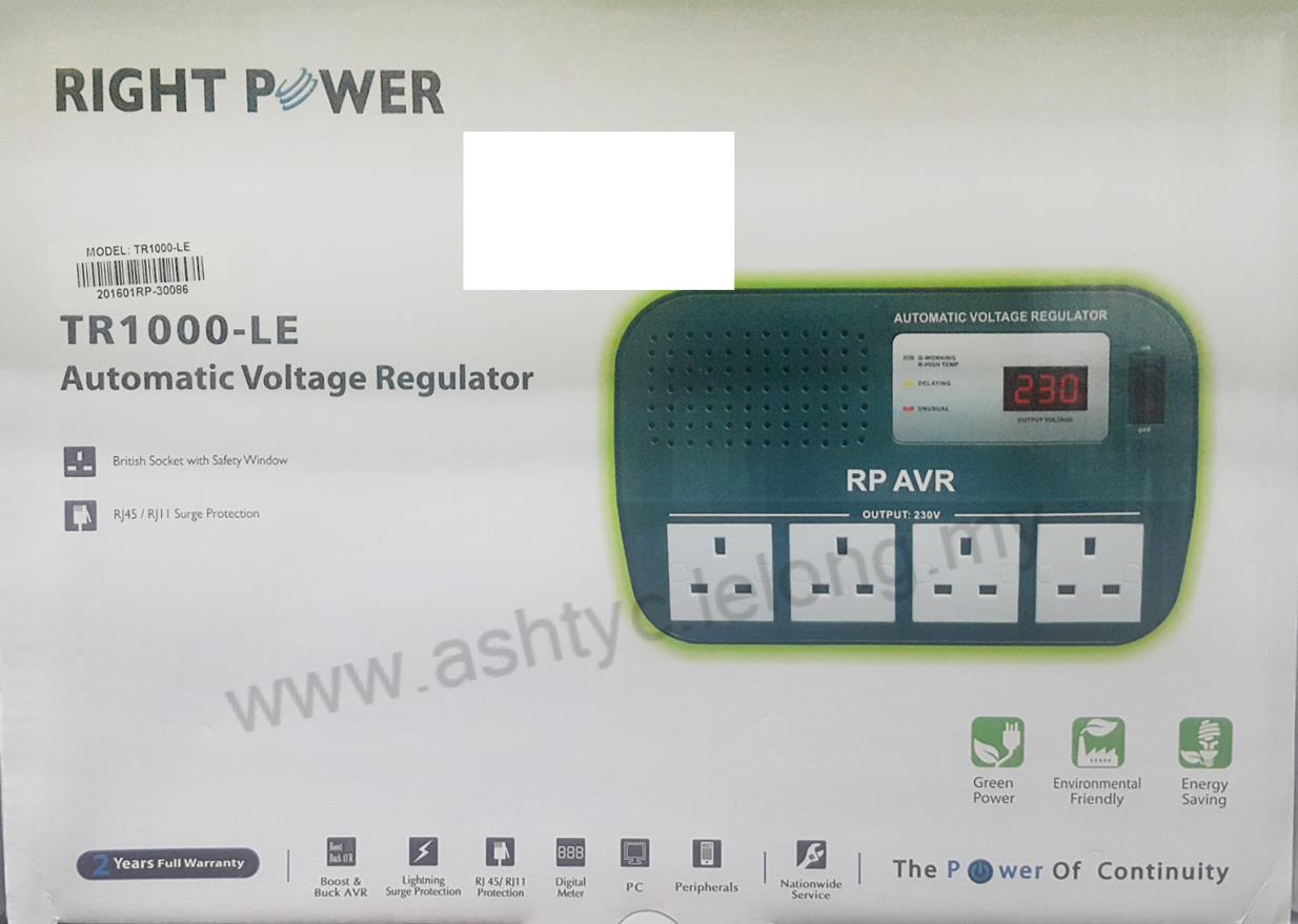 RIGHT POWER 1000VA AVR (TR1000-LE)