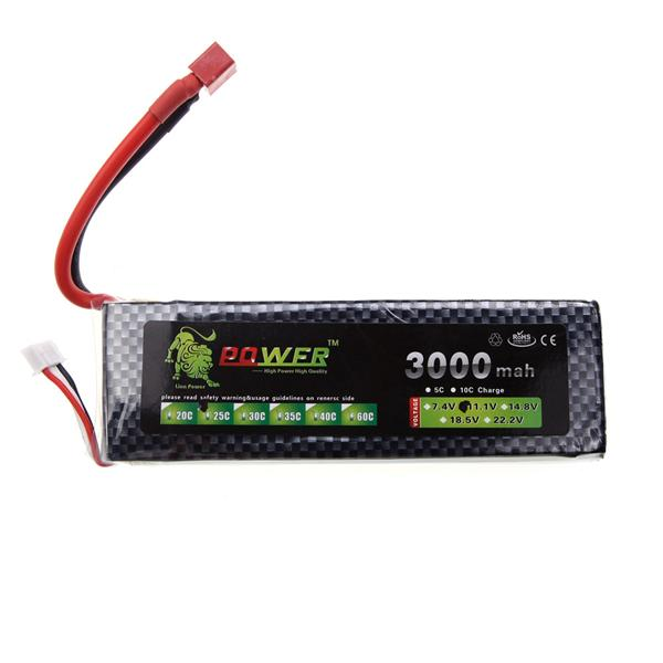 POWER 11.1V 3000MAH 25C LIPO BATTERY SINGLE BAR