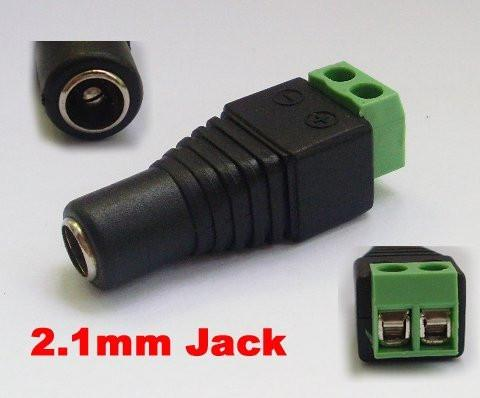 Power Converter Barrel Screw Down to 2.1mm DC Power Connector Female