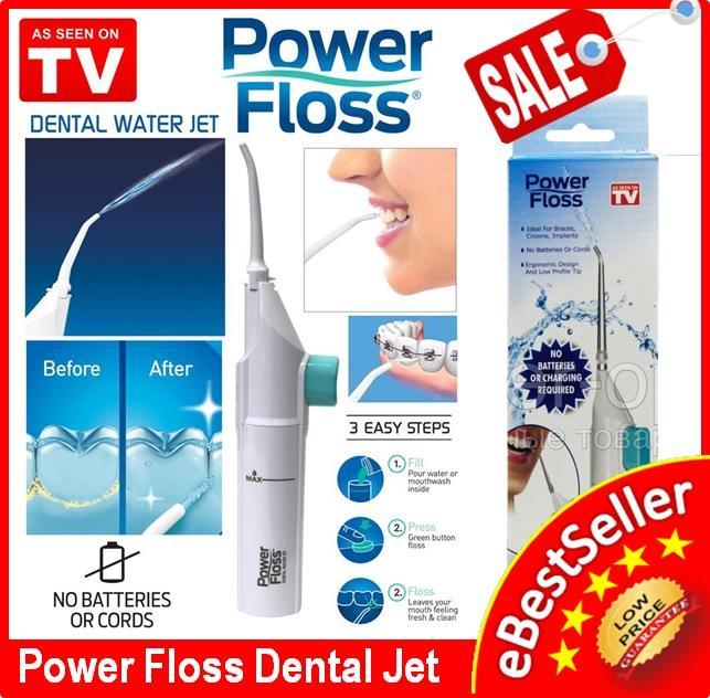 Power Floss Dental Water Jet For Oral Irrigator Caren, No Batteries or
