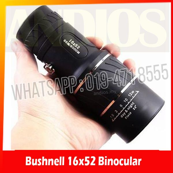 Powerful Bushnell 16x52 High Definition Monocular Telescope Binocular