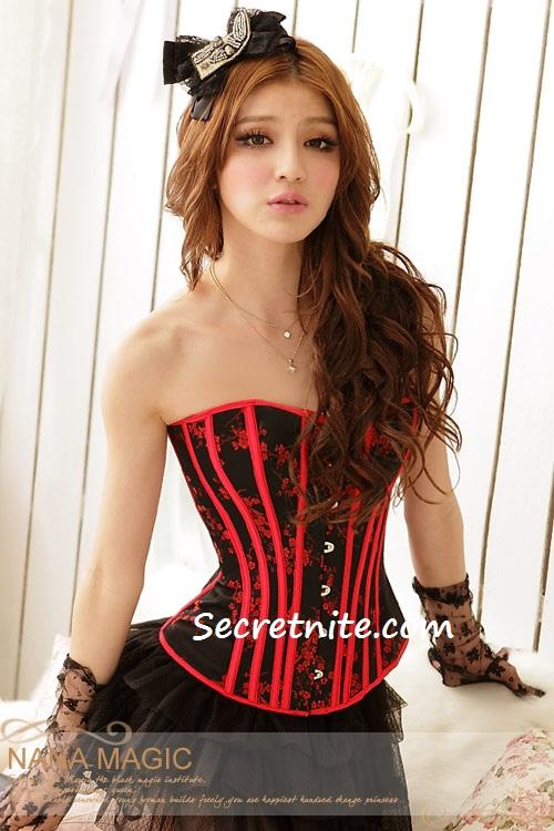 Pre Order Sexy Red Plus Size Corset with G-string S, M, L,XL,2XL 16