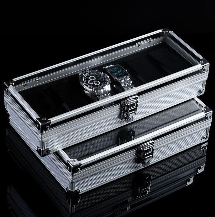Premium Aluminium Watch Box Display Box READY STOCK (Glass Surface)