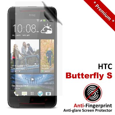 Premium Anti-Fingerprint Matte HTC Butterfly S Screen Protector