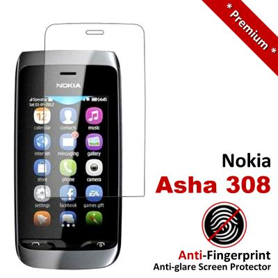 Premium Anti-Fingerprint Matte Nokia Asha 308 309 Screen Protector