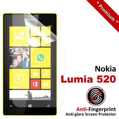 Premium Anti-Fingerprint Matte Nokia Lumia 520 Screen Protector