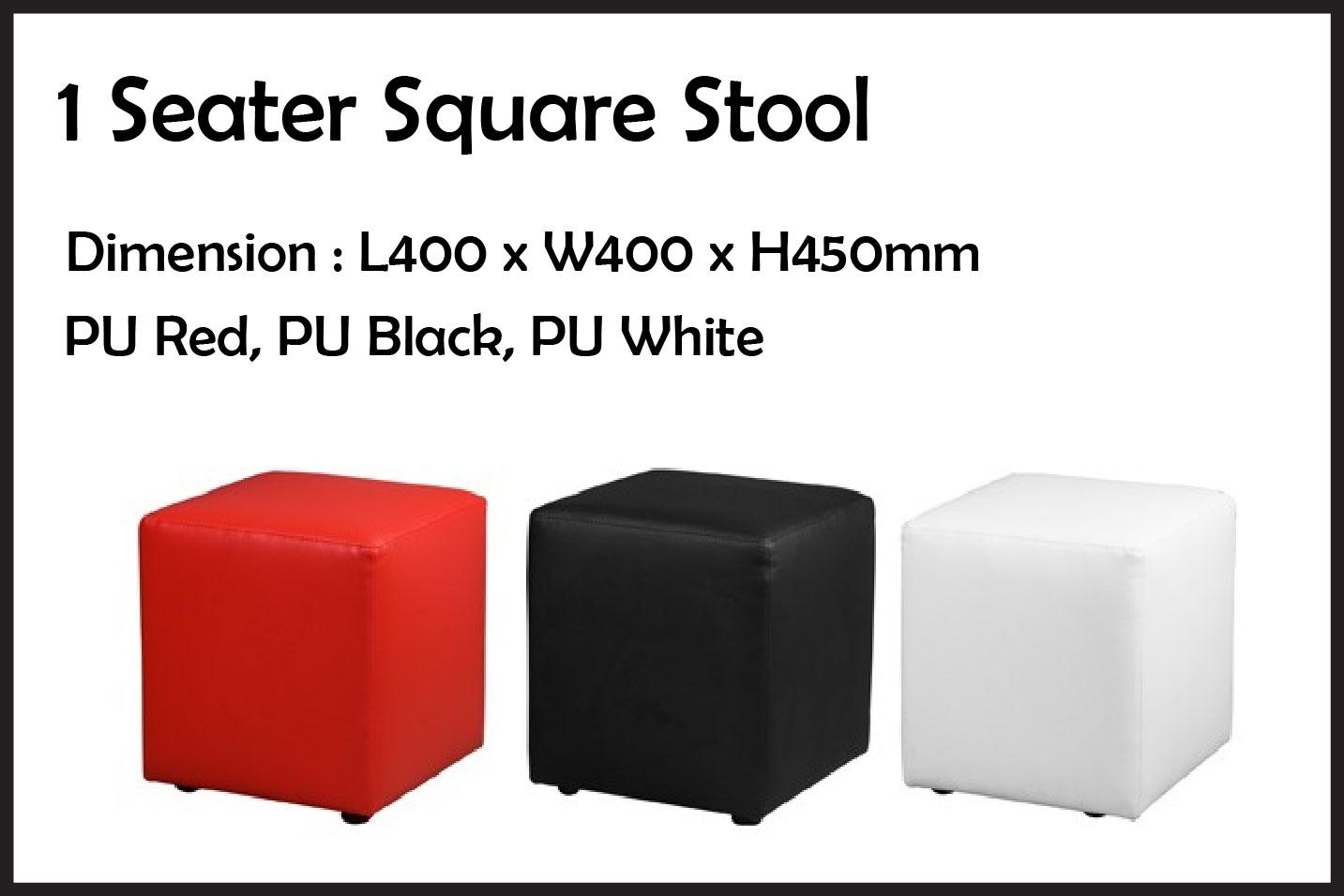 Premium High Quality 1 Seater Square Stool Mary Stool