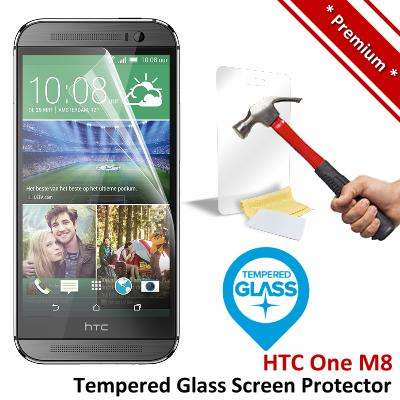 Premium Protection HTC One M8 Tempered Glass Screen Protector