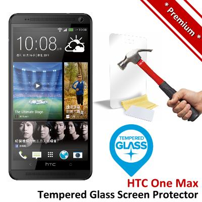 Premium Protection HTC One Max Tempered Glass Screen Protector