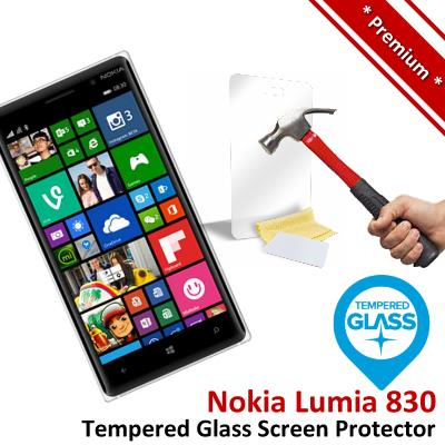 Premium Protection Nokia Lumia 830 Tempered Glass Screen Protector