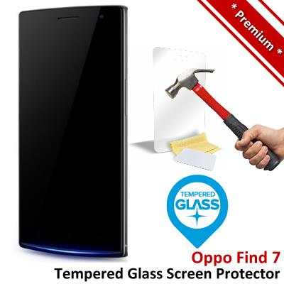 Premium Protection Oppo Find 7 Tempered Glass Screen Protector