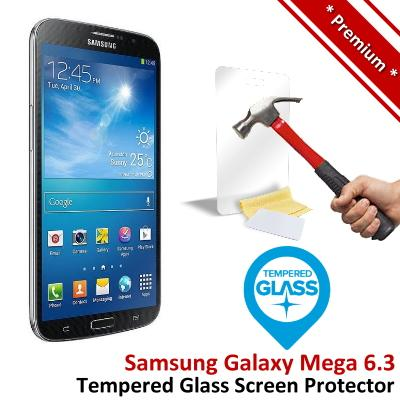 Premium Samsung Galaxy Mega 6.3 i9200 Tempered Glass Screen Protector