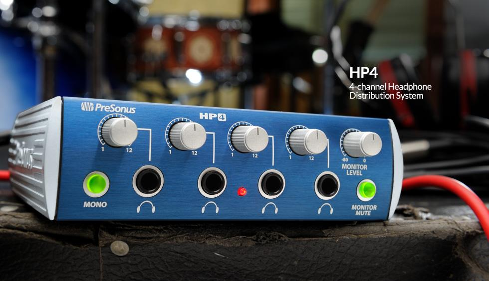 PRESONUS HP4 - 4-Channel Headphone Distribution System - FREE SHIP