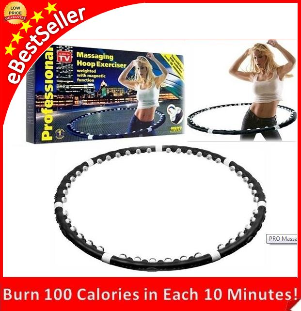 PRO Massaging Slimming Hula Hoop Exercise Fitness Magnetic ABs Belt