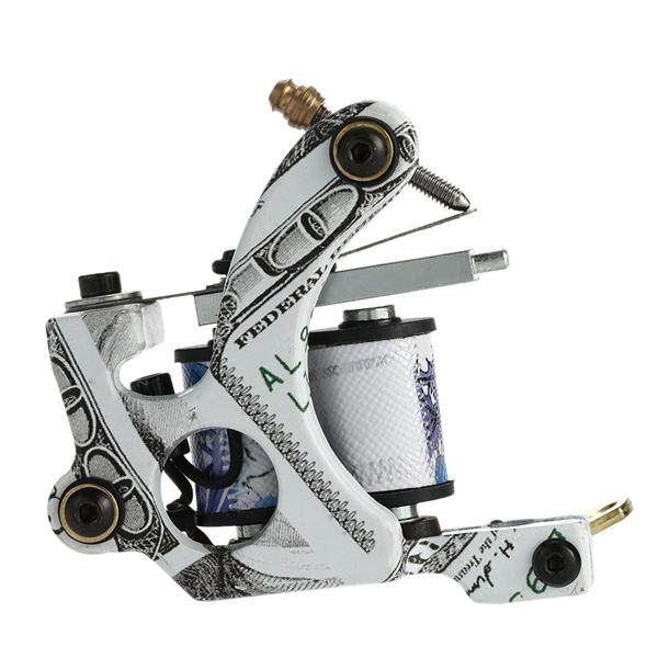 New Pro Tattoo Machine Shader Liner 10 Wrap Coils Tattoo Instrument