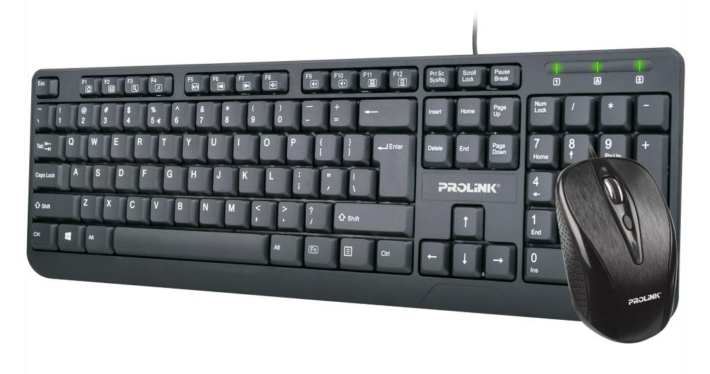 PROLiNK PCCM-2002 USB Multimedia Keyboard + Optical Mouse Combo