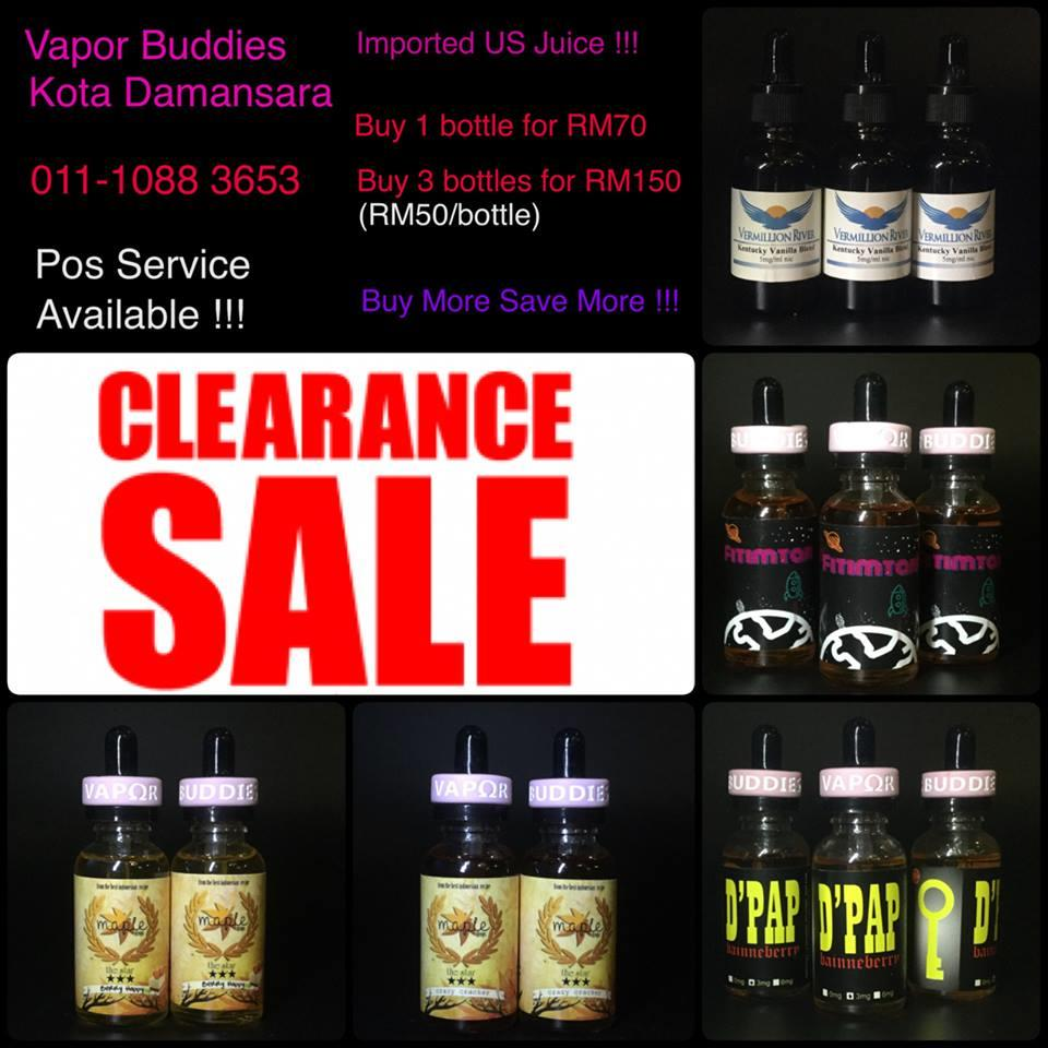 Promo Imported US Premium E Juice E Liquip!!!Buy 3  RM150(RM50/Bottle)