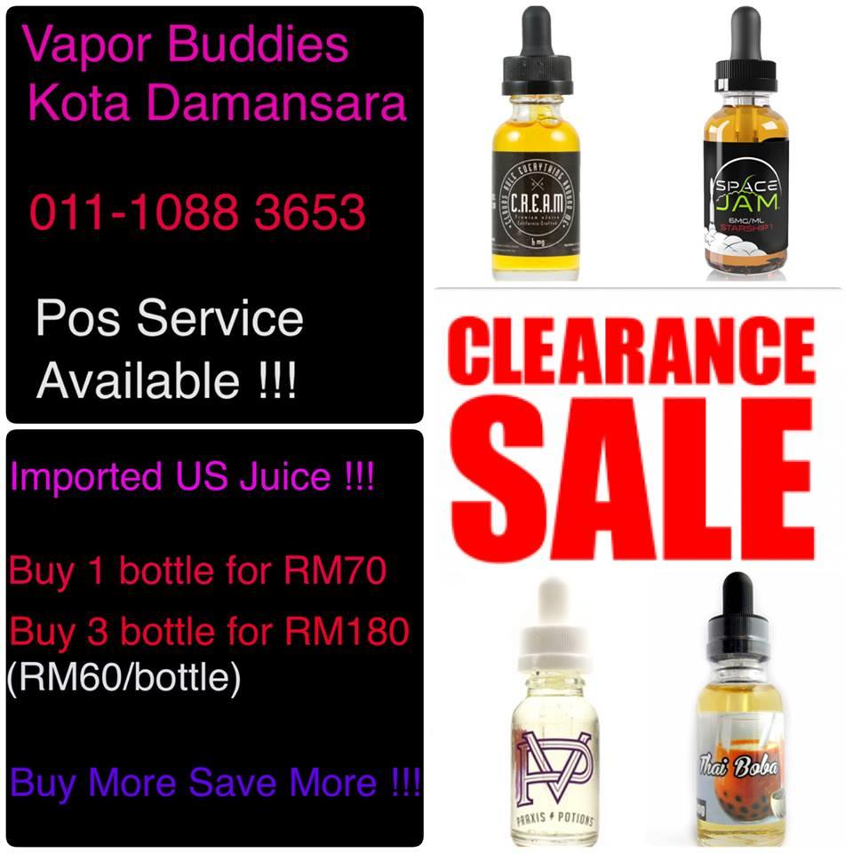 Promo Imported US Premium E Juice E Liquip!!Buy 3  RM150(RM50/Bottle)