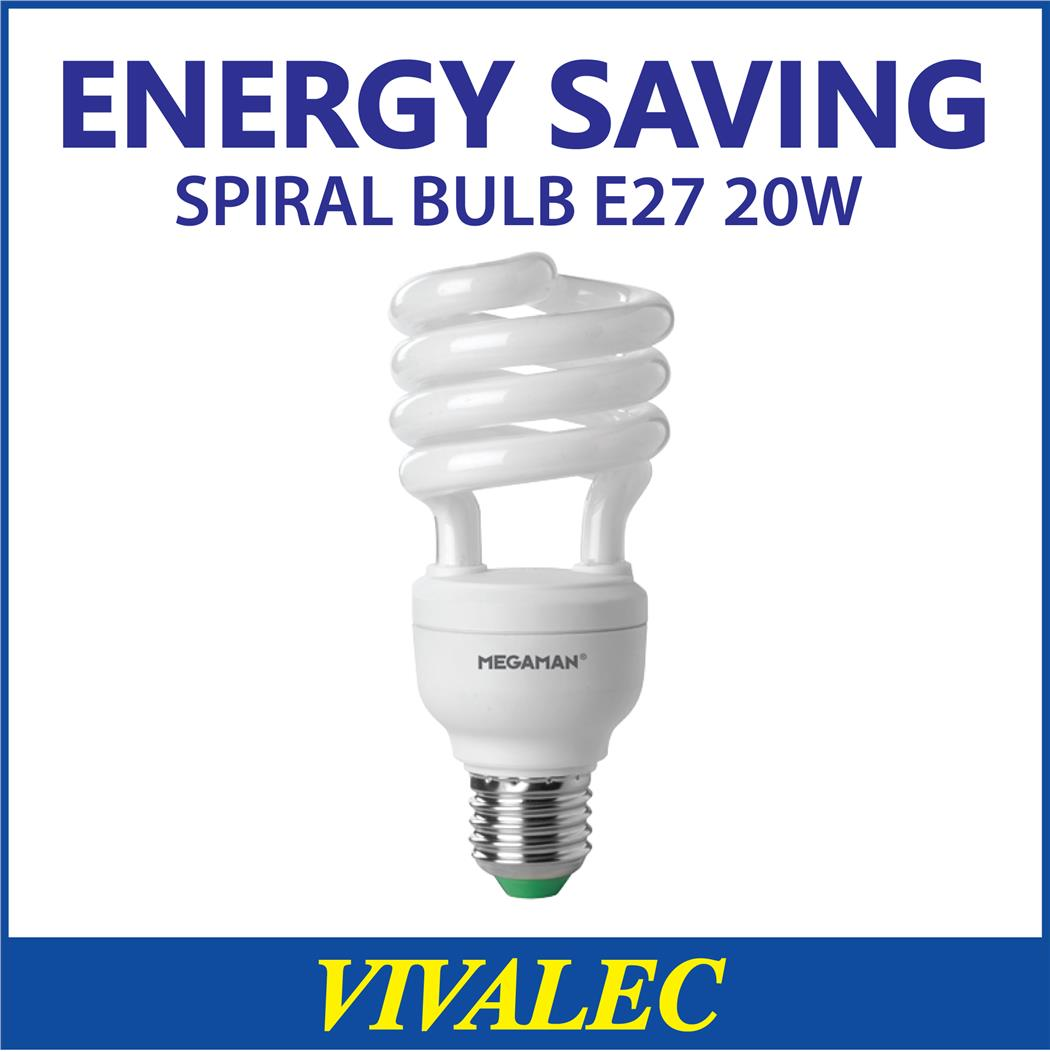 PROMOTION! Energy Saving Spiral Bulb 20W E27