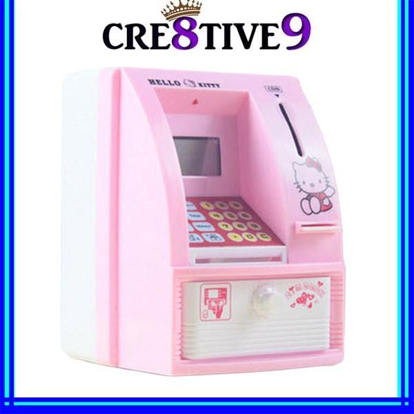 PROMOTION!! Hk368 Hello Kitty Piggy ATM Toy for Children (Pink)