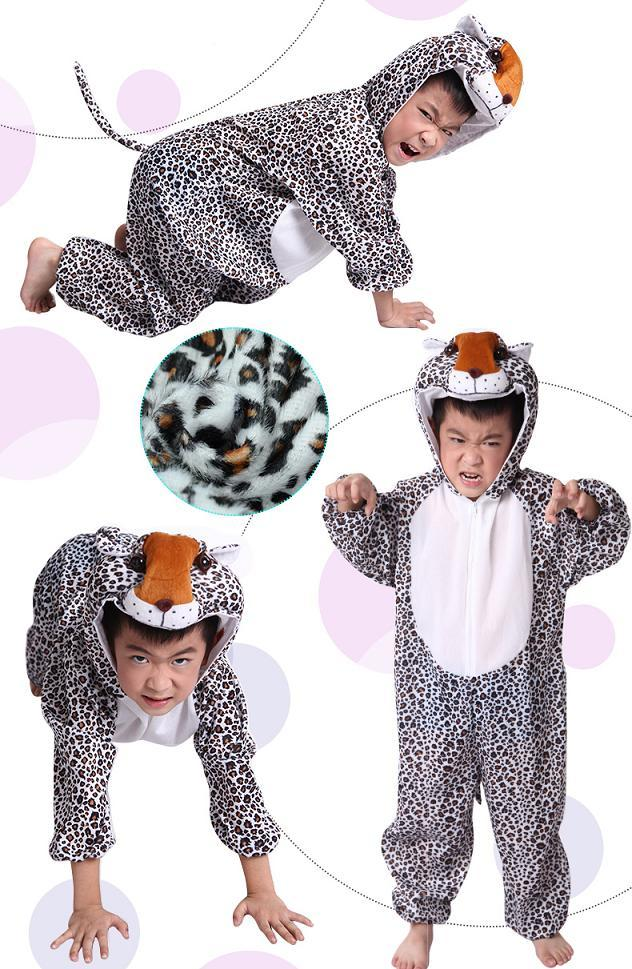 Promotion - Leopard Cosplay Kids Animal Outfit Costume Size L