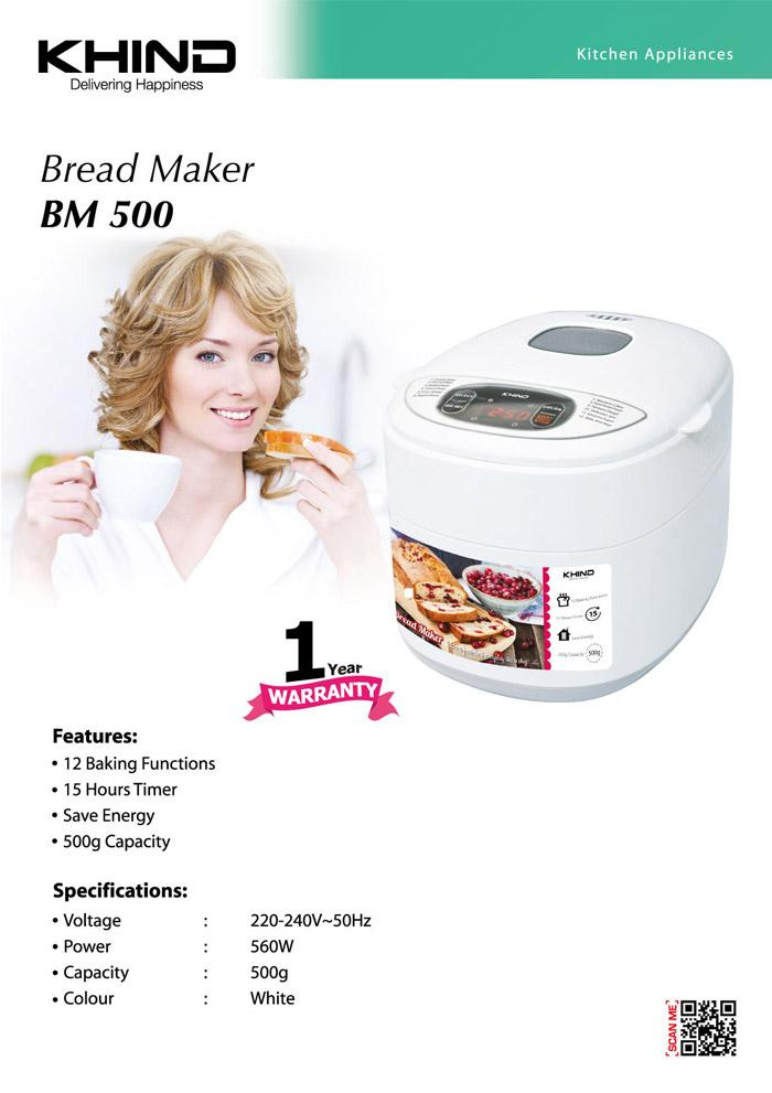 [PROMOTION, LAST OFFER, GRAB IT NOW!!!] KHIND BREAD MAKER BM500