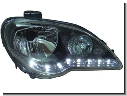 Proton Gen2 / Persona `05 Head Lamp Crystal Black R8 LED Look [PT04-H0