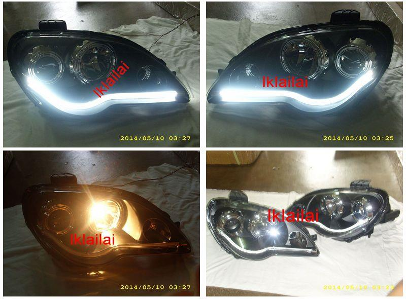 Proton Gen2 / Persona Light Bar Projector Head Lamp [Black Housing]